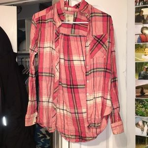 Pink flannel size small